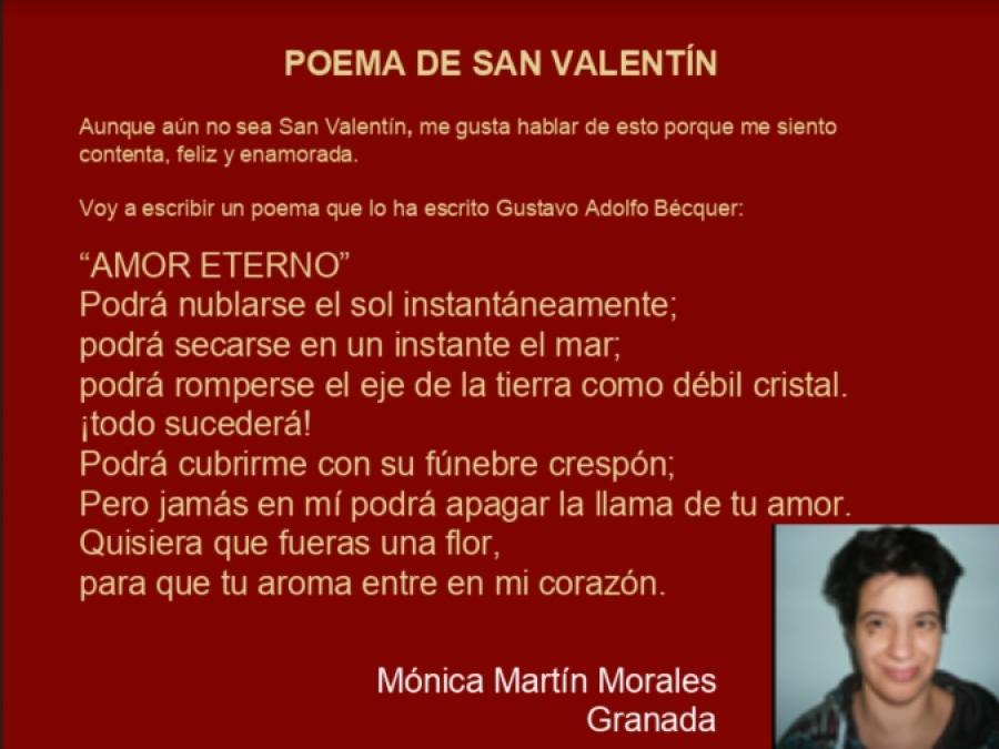 Poema de San Valentín, de Mónica Martín Morales